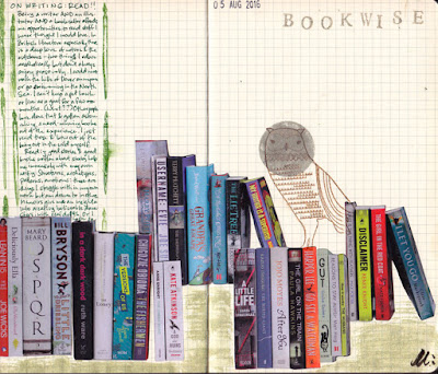 collage: books and cybernetics