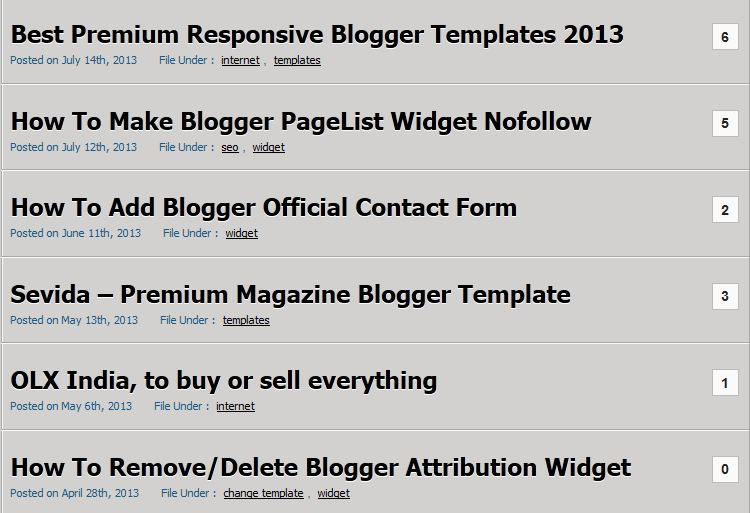 How To Show Post Title Only on Homepage in Blogger