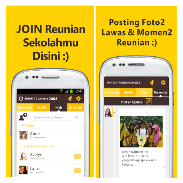 Aplikasi Join Alumni & School Friends, Reunian Lewat Android