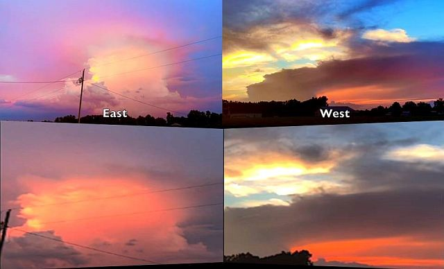 Mesmerizing Sky - Rare Double Sunset over North Carolina  Double%2Bsunset%2Bsky%2Bphenomenon