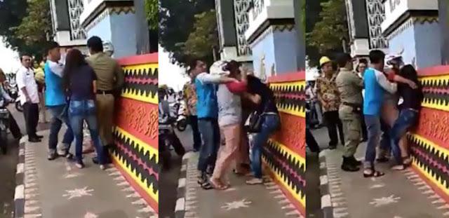 Video Viral Pelakor, Istri Sah Malah Dihajar Suami di Lampung Utara