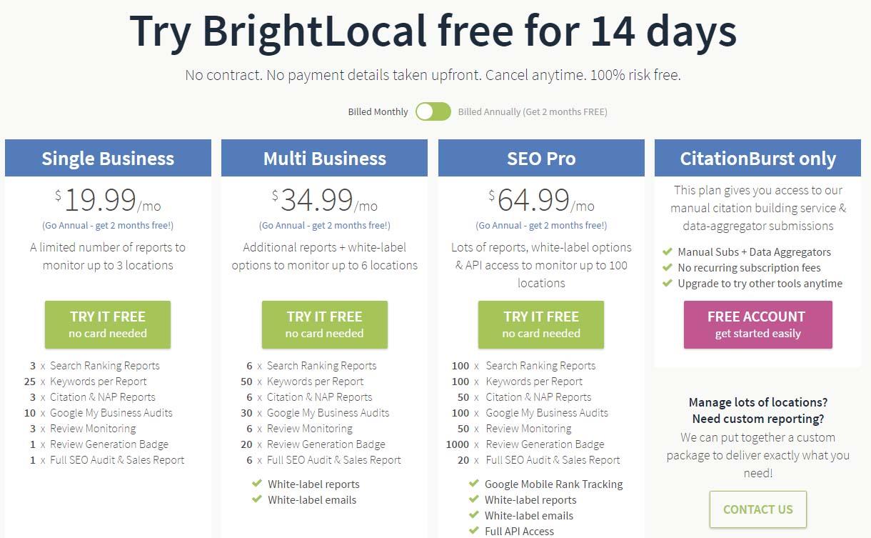 fermium software BrightLocal