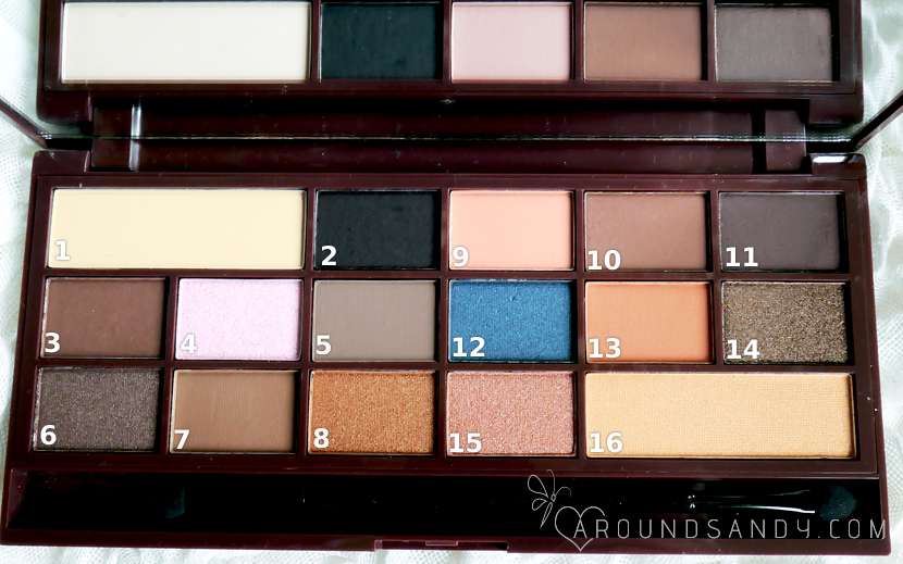 salted caramel palette paleta de i heart makeup  semi sweet chocolate clon too faced