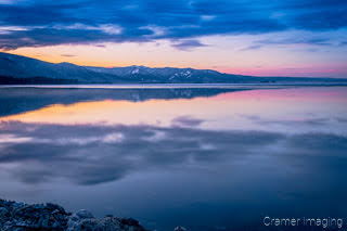 Cramer Imaging's professional quality landscape photograph of Henry's Lake at sunrise or dawn with a water reflection