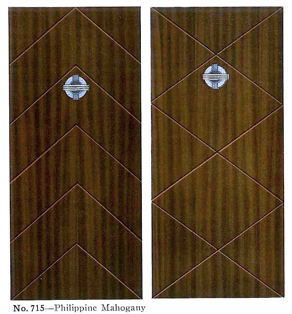 1945 mahogany doors with glass peep views, illustration
