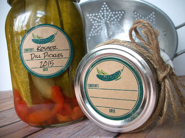 pickle mason jar labels