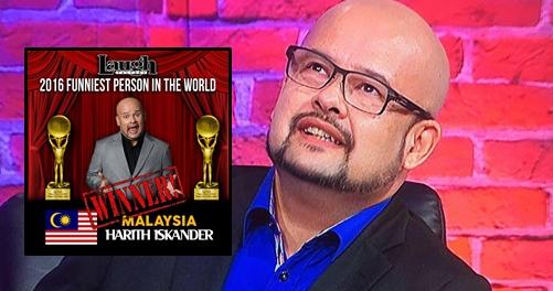 Harith Iskander Dinobat Sebagai Juara Funniest Person In The World 2016