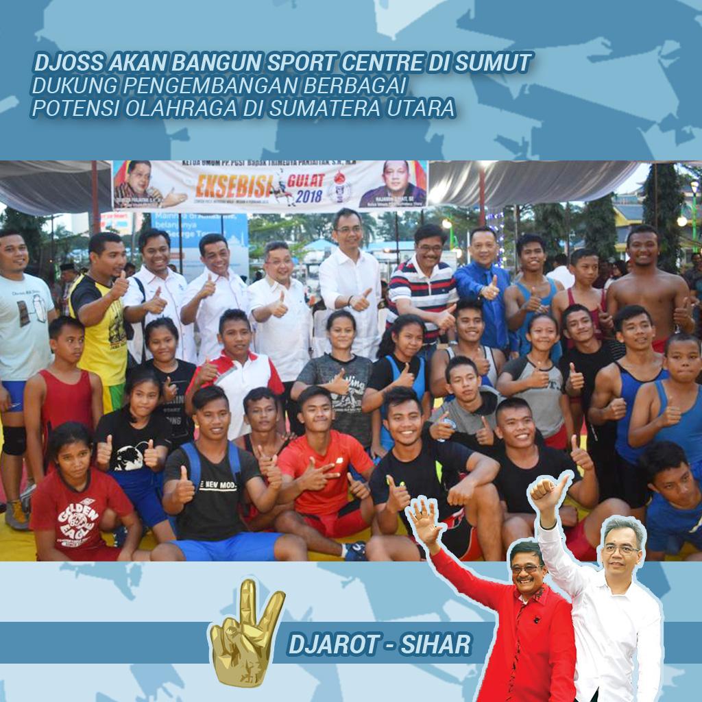 Djoss Janjikan Bangun Sumut Sport Centre