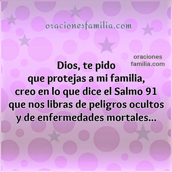 Bonita oración cristiana a Dios pidiendo protección de peligros y enfermedad, frases por Mery Bracho