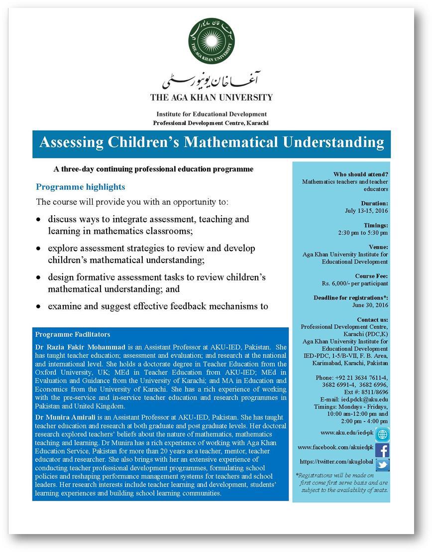 (Map) Assessing Children's Mathematical Understanding