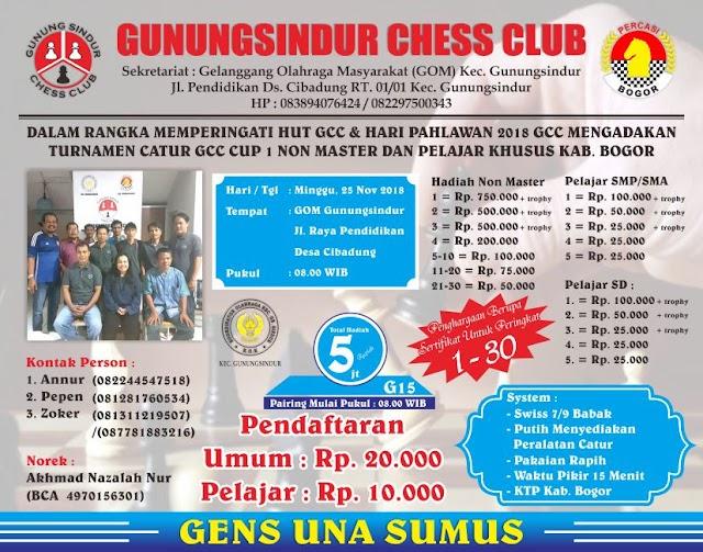 Turnamen Catur GCC : Non Master dan Pelajar Khusus Kab. Bogor