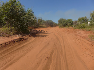 Photo of the red dirt road to Cape Leveque