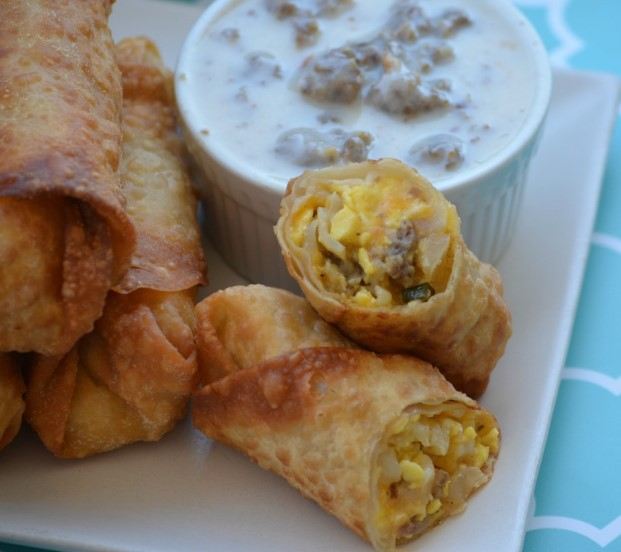 Eggrolls With Sausage Gravy
