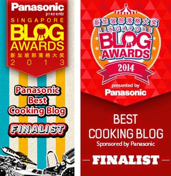Singapore Blog Awards Best Cooking Blog Finalist 2014