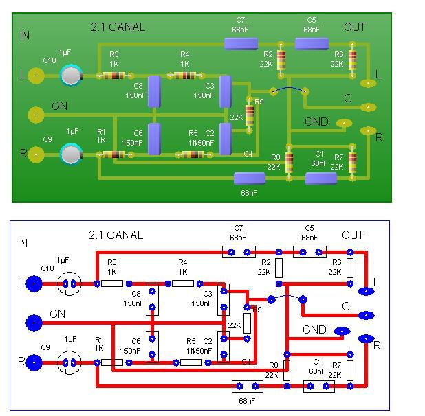 ... izquierdo (L) y el GND para conectar el punto de la entrada de audio