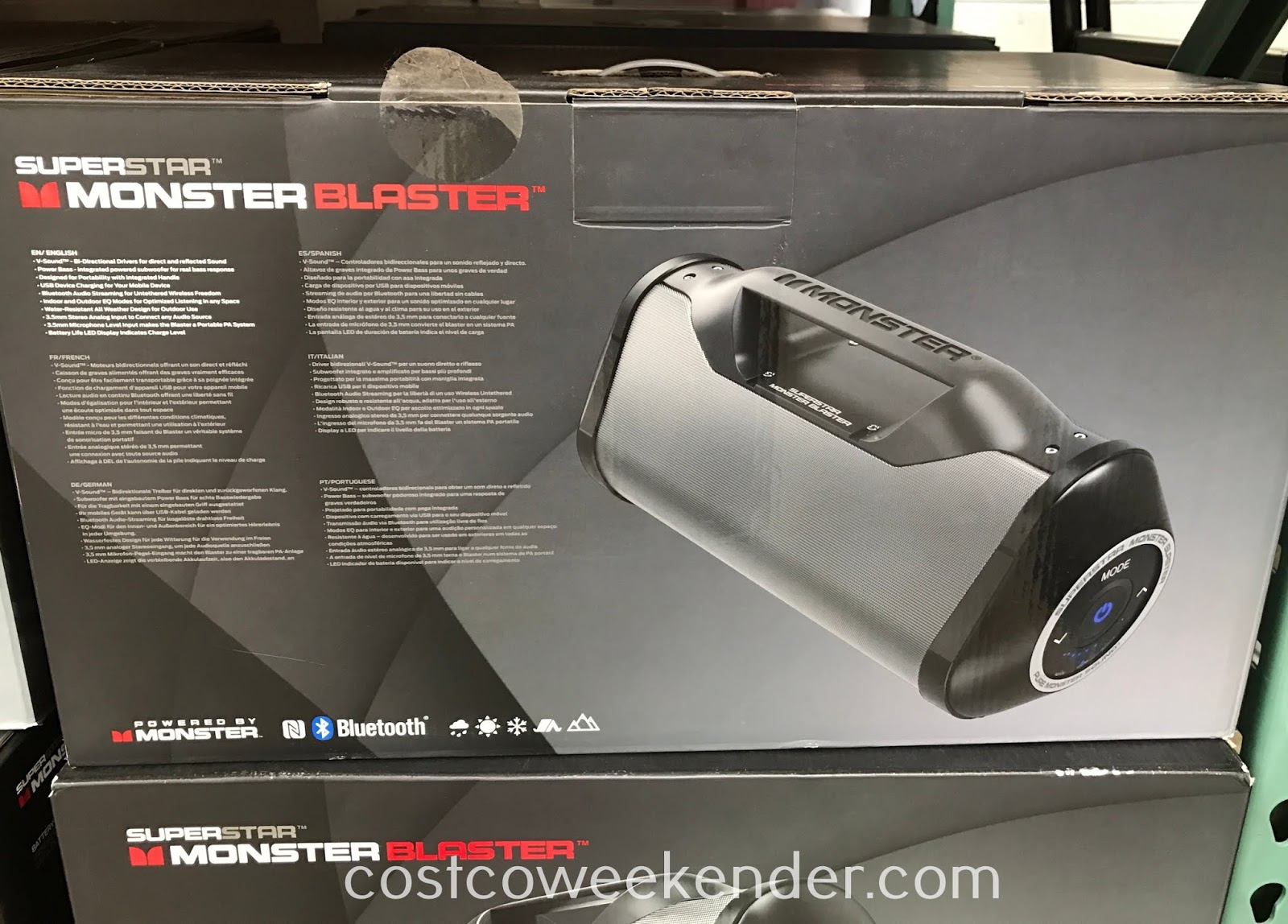 Costco 8696000 - Taking and listening to your music with you on the go just got easier with the Superstar Monster Blaster Speaker