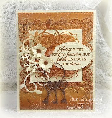 Our Daily Bread Designs Stamp Set: Key to Happiness, Our Daily Bread Designs Paper Collection: Winter 2014, Our Daily Bread Designs Custom Dies: Keys, Double Stitched Squares, Stitched Ovals, Flourished Star Pattern, Fancy Foliage, Layered Lacey Squares, Lovely Leaves, Bitty Blossoms