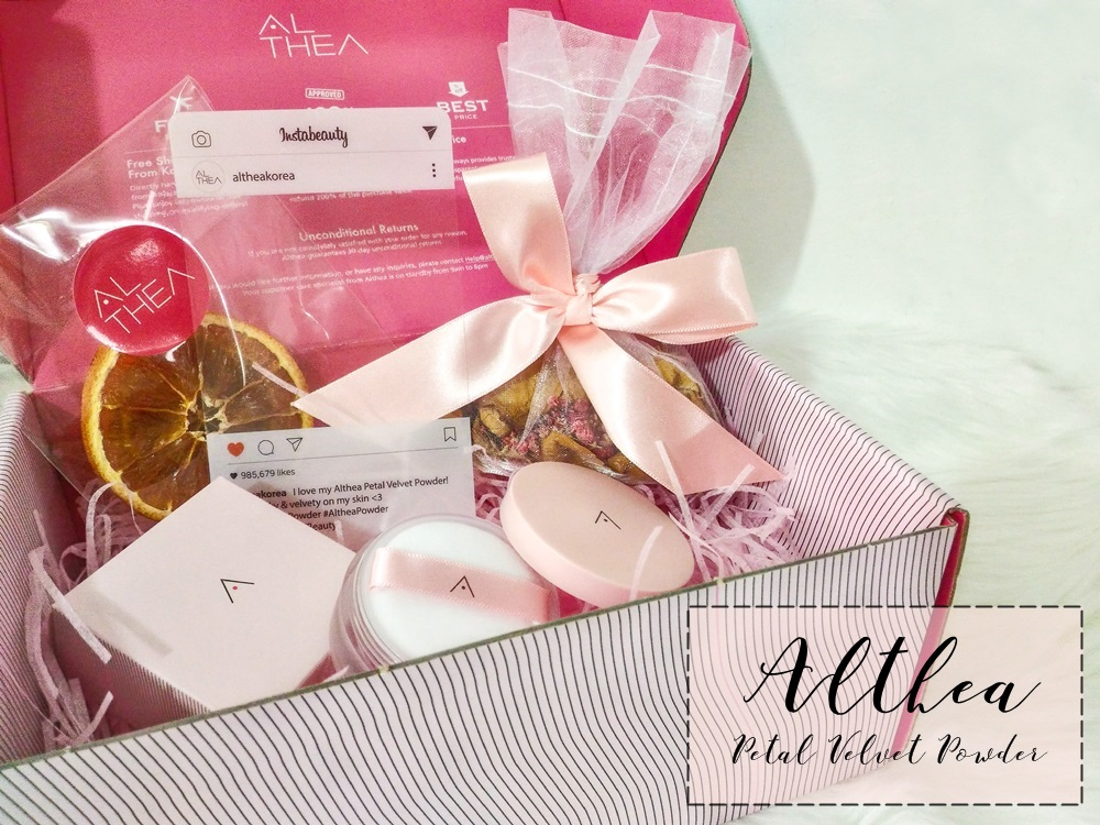 Unboxing of The Althea Petal Velvet Powder