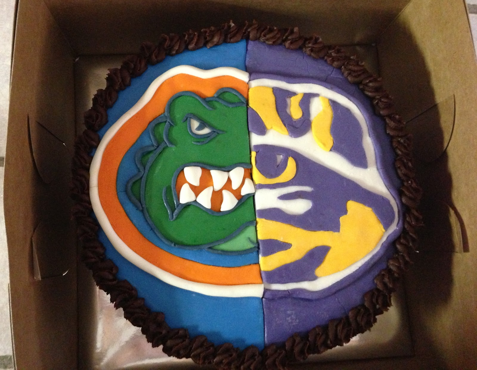 Cakes By Mindy Florida Gators Lsu Tigers Cake 8 Quot