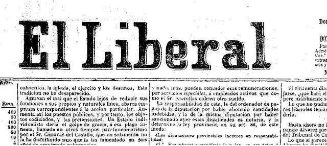 Cabecera del diario El Liberal