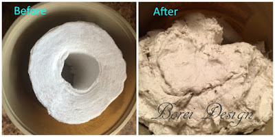How to make paper mache clay from toilet paper.