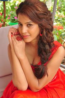 Actress Deeksha Panth Stills in Red Short Dress at Banthi Poola Janaki Press Meet  0037