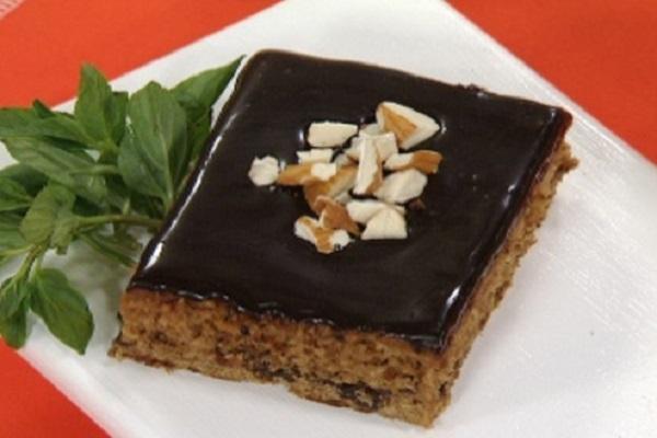 Brownies de avena y chocolate