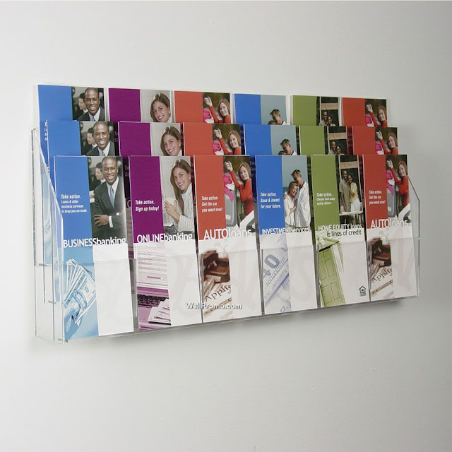 Brochure Kiosk Pics: Brochure Holder Wall