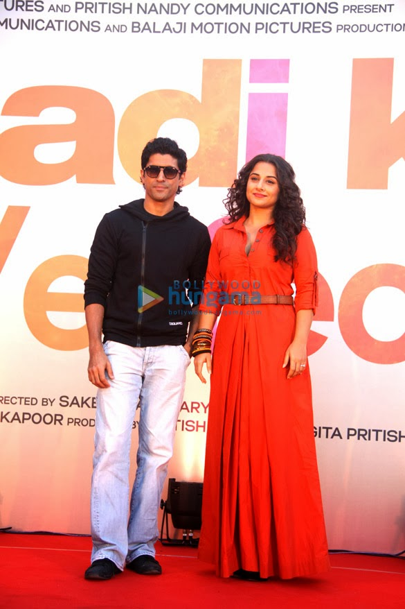 Farhan & Vidya promote 'Shaadi Ke Side Effects'