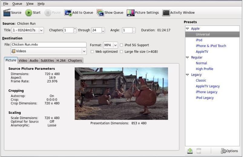Install HandBrake in Ubuntu, A Cross-Platform Video Transcoder!