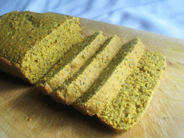 Lemon Chia Seed Cornmeal Bread