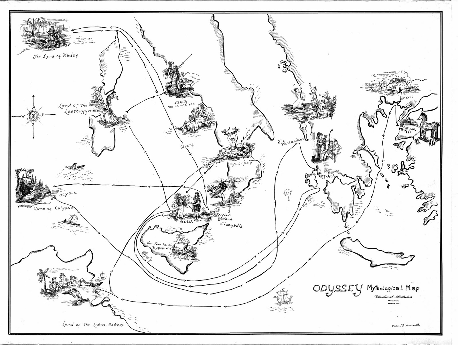 Take A Journey Of The Imagination With A Literary Map