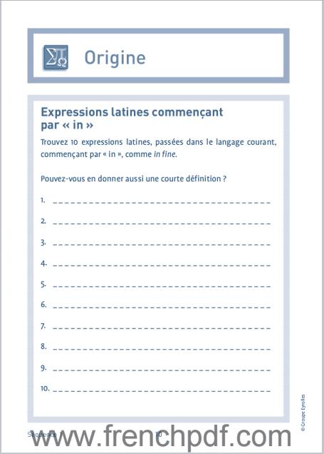 Jeux de langue Française pdf gratuit