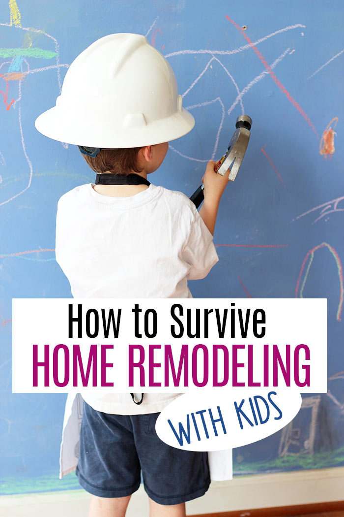 Tackling a home remodeling project with kids and pets in the family? It can be done with these tips! Learn how to survive a home renovation and stay sane when you have kids. Moms - you need to read this before your next home improvement project! #ad #homeimprovement #parenting #homedeocr