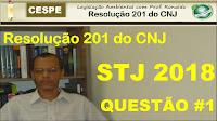 Questões comentadas da Resolução 201 CNJ | CESPE | STJ 2018