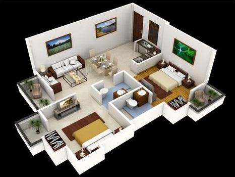 Gambar Denah Rumah Minimalis Terbaru Type  Gambar Denah Rumah Minimalis Terbaru Type 45