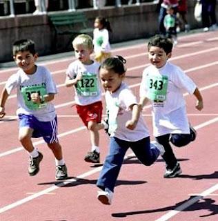 Fotos de niños en maratón