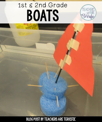 Building a sailboat with first graders! Freebie included on this blog post!