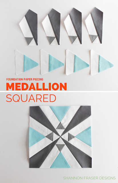 Medallion Squared | Q1 2018 Finish-A-Long Quilt Projects | Shannon Fraser Designs | Modern Quilting | WIP | Quilt Patterns | Free Quilt Pattern | Foundation Paper Piecing