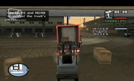 Cara menggunakan forklift GTA San Andreas