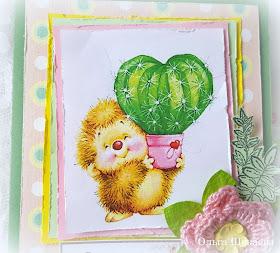 Открытки с ежиком и кактусом, открытку мужчине