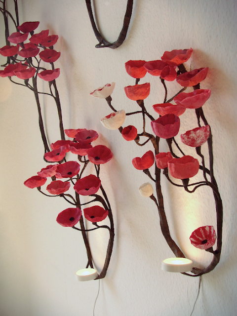 Alessandra Fabre Repetto, Forest Wall Light, Lampada fatta a mano in cartapesta che proietta le ombre