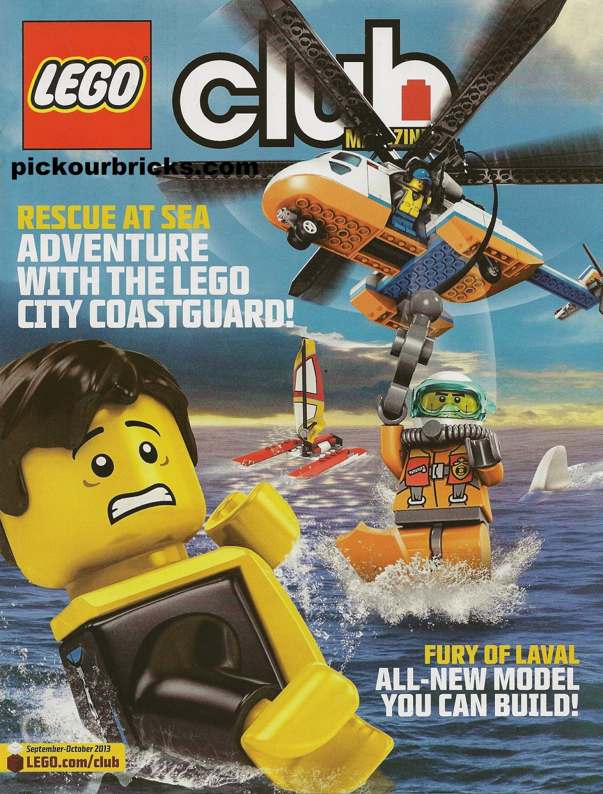 lego club magazine september october 2013 issue city. Black Bedroom Furniture Sets. Home Design Ideas