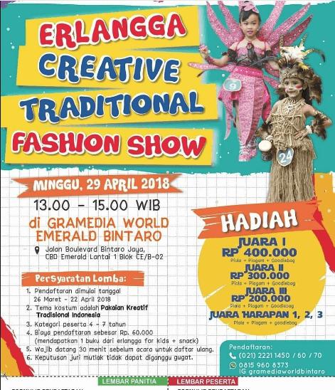 Lomba Fashion Show Erlangga Creative Tradional 2018 Bintaro