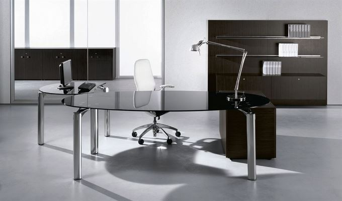 Modern Contemporary OFFICE FURNITURE White Glass Desk  Best