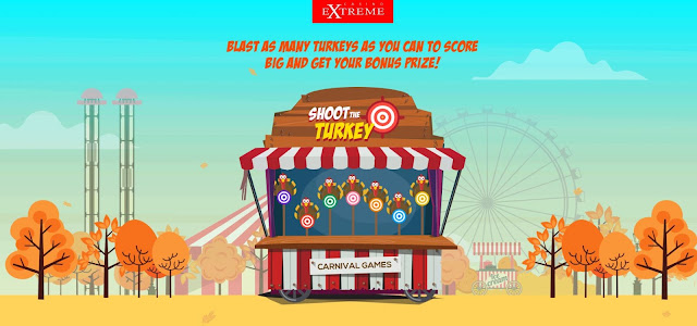 Shoot the Turkey promo at Casino Extreme