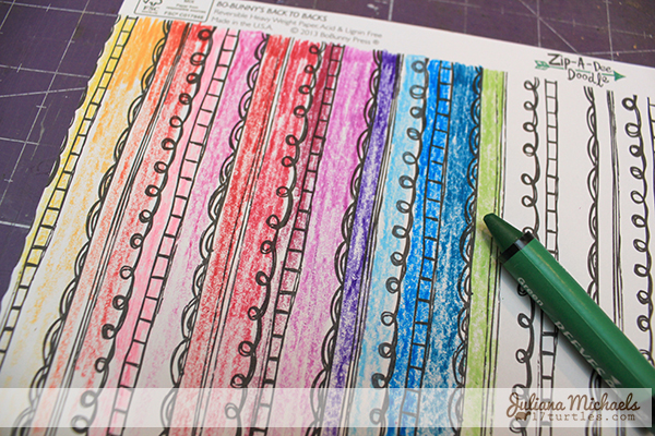 Creating a Rainbow Effect with Water Soluble Wax Pastels