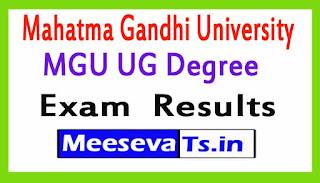 Mahatma Gandhi University MGU UG Degree Exam  Results 2017