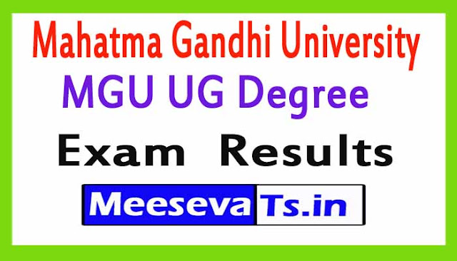 Mahatma Gandhi University MGU UG Degree Exam  Results 2018