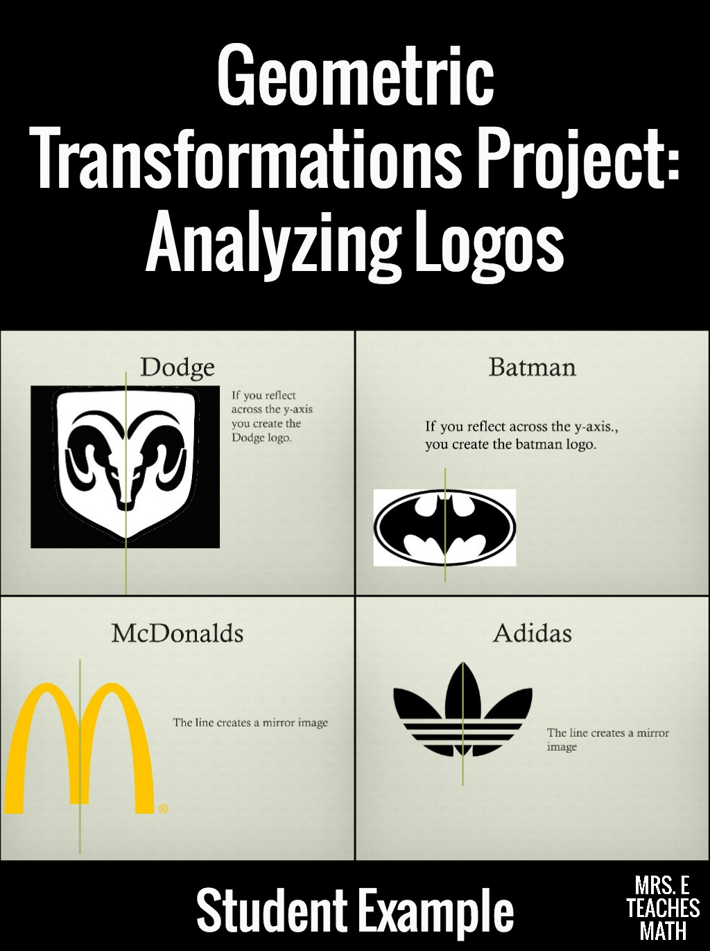 Transformations Logo Project Mrs E Teaches Math